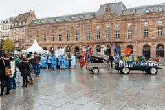 Pielęgniarek i opieka asystentów protest w Francja Obrazy Royalty Free