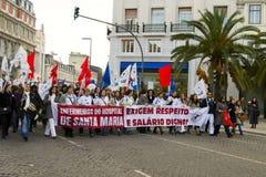 pielęgniarek Portugal strajk Zdjęcie Stock