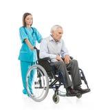 Pielęgniarka i pacjent. Obraz Stock
