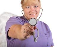 pielęgniarka stetoskop Fotografia Royalty Free
