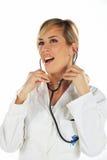 pielęgniarka stetoskop zdjęcie stock