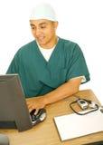 pielęgniarki komputerowy typ Obraz Stock