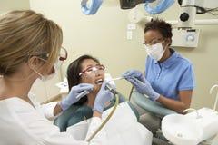 Pielęgniarki Pomaga lekarka Podczas gdy traktowanie Fotografia Royalty Free
