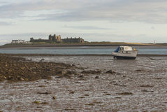 Piel Island. Near Barrow-in-Furness,  Cumbria with the tide out Royalty Free Stock Photo