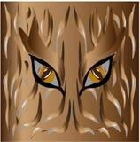 Piel original y ojos del tigre salvaje de Brown libre illustration