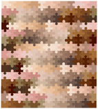 Piel Tone Jigsaw Pieces Fotografía de archivo libre de regalías