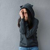 Pieles adolescentes su cara raro Fotografía de archivo libre de regalías