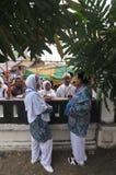 Pielgrzymi mówją rodzina do widzenia Zdjęcie Royalty Free