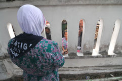 Pielgrzymi mówją rodzina do widzenia Obrazy Royalty Free