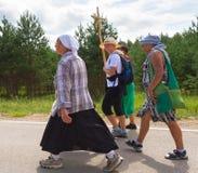 Pielgrzymi na drodze Obraz Royalty Free