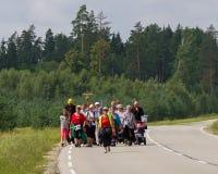 Pielgrzymi na drodze Zdjęcie Royalty Free