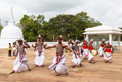 Pielgrzymi w Anuradhapura, Srilanka fotografia royalty free