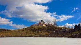 Pielgrzymka kościół St John Nepomuk w republika czech Zdjęcia Royalty Free
