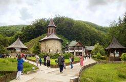 Pielgrzymka przy monasterem Prislop, Rumunia Fotografia Royalty Free