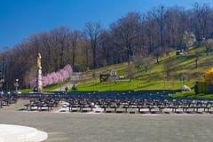 Pielgrzymki sanktuarium w Marija Bistrica, Chorwacja Zdjęcia Royalty Free