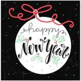 Pielucha nowego roku literowania projekt Zdjęcia Stock