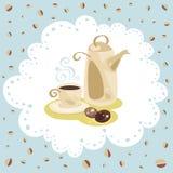 Pieluchy kawy set Zdjęcie Royalty Free