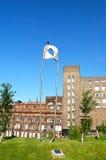 Pieluchy szpilki rzeźba przy Rottenrow uprawia ogródek, Glasgow Obraz Royalty Free