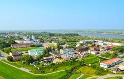 Piemont-Bezirk von Tobolsk Seitenansicht des Tobolsk Krem Lizenzfreies Stockbild