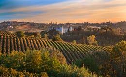 (Piemonte, l'Italia): paesaggio Fotografia Stock