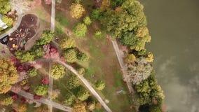 Piemonte-park Luchtmening van hierboven stock video