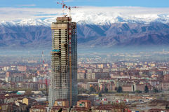 Piemonte regionskyskrapa, Turin, Italien Arkivfoto