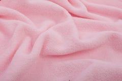 Piena pagina vicina su di struttura rosa del tessuto Fotografia Stock
