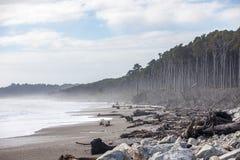 Pieniąca się plaża Obraz Royalty Free