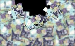 Pieniądze łamigłówka Obrazy Stock