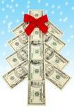 pieniądze świąteczne drzewko Obrazy Stock