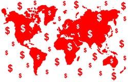 pieniądze świat Obraz Royalty Free