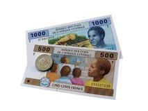Pieniądze afryka środkowa stany Obrazy Stock
