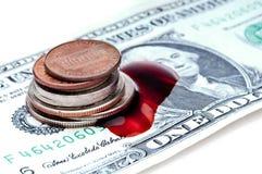 pieniądze amerykańska krwawiąca recesja Obrazy Stock
