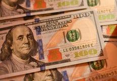 Pieniądze amerykanina sto tekstury notatek projekt koncepcja finansowego obrazy stock