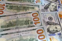 Pieniądze amerykanina sto tekstury notatek projekt koncepcja finansowego obrazy royalty free