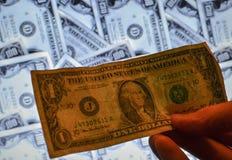 Pieniądze amerykanina sto tekstury notatek projekt koncepcja finansowego fotografia royalty free