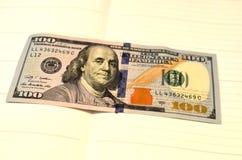 Pieniądze amerykanina sto tekstury notatek projekt koncepcja finansowego Pieniężne operacje obraz stock