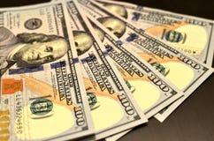 Pieniądze amerykanina sto tekstury notatek projekt koncepcja finansowego Pieniężne operacje zdjęcie royalty free