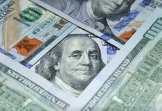 Pieniądze amerykanina sto tekstury notatek projekt koncepcja finansowego Pieniężne operacje zdjęcia stock