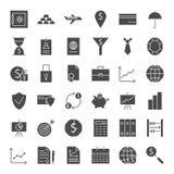 Pieniądze bankowości sieci Stałe ikony Obrazy Royalty Free