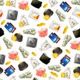 pieniądze bezszwowy deseniowy royalty ilustracja
