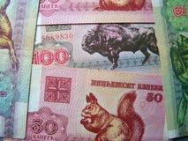 pieniądze białorusi Zdjęcia Stock