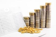Pieniądze bookbank i złoto obrazy royalty free