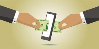 Pieniądze Cyfrowego transakci płatnicza wymiana Obrazy Royalty Free
