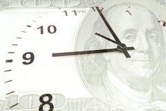 pieniądze czas fotografia stock