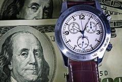 pieniądze czas Zdjęcia Stock