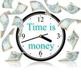 pieniądze czas Zdjęcia Royalty Free