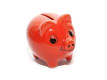 Pieniądze czerwona świnia fotografia stock