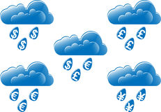 pieniądze deszcz ilustracji