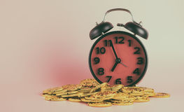 Pieniądze dla czasu przez czas jest pieniądze pojęciem Obraz Royalty Free